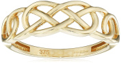 Elements Gold 9ct Yellow Gold Plain Celtic Pattern Ring