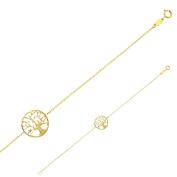 jouailla in 375/1000 Gold Tree of Life Bracelet