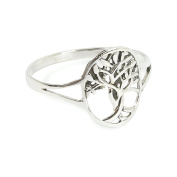 Solid 925 Sterling Silver Tree Of Life Ring in sizes G-Z Gift Boxed