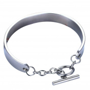 Onefeart Stainless Steel Bracelet for Women Girls Ladies Style Bangle Fashion Jewellery 1x6CM 3 Colours