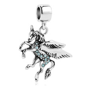 Sug Jasmin Dangle Unicorn Charm Beads For Charms Bracelet