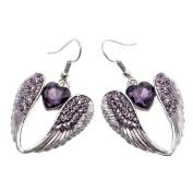 Loveangel Jewellery Angel Wing Heart Crystal Dangle Earrings For Women