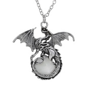 CHIC*MALL Vintage Punk Glow In The Dark Dragon Pendant Necklace Fashion Jewellery Gifts
