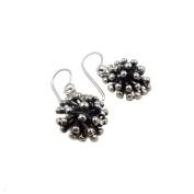 925 Sterling Silver Spiky Ball Drop Earrings