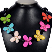 Vintage Rainbow Turquoise Butterfly Necklace Handcrafted Jewellery UK Gift Idea by Tantric Tokyo