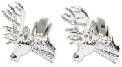 Silver Stags Head Cufflinks by David Van Hagen
