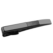 CUFF IT GunMetal Black Tie Bar Clip 5.1 CM for for Men Business with Gift Box
