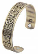 Vintage Pterosaur Magnetic Therapy Celtic Knot Cuff Bracelet for Men Women Jewellery