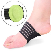 QuiCi 1 Pair Sport Cushioned Arch Foot Support Brace Decrease Plantar Fasciitis Pain Flat and Achy Feet