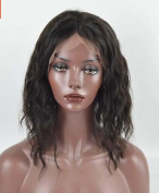MZP Wigs short curly hair half hooks front lace head sets of chemical fibre high temperature silk , 36cm
