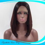 MZP Front lace wigs bobo head brown short straight fake wigs , 30cm