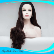 MZP Wigs long curly hair large wave fashion before lace chemical fibre wig head cover