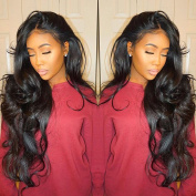 Vanessa Queen Body Wave Wig With Bangs 180 Density Long Wave Synthetic Lace Front Wig For Black Women 60cm