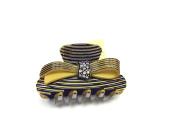Clip fermacoda rodoid cm Pliers 8 Beige & Black Bow with Rhinestones