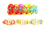 12 Clips Multicolor Design Cottages + 6 clips Multicolor Flowers Design (3 x 2.5 cms) High Quality