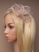 Beautiful Latte Fascinator mounted on an ultra thin band, suitable for Weddings, Races, Ascot by Pink