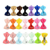 Baby Hair Bow,Fascigirl 40Pcs Cute Knotted Bow Hair Bow Clip Hair Clips for Baby Infant Toddler