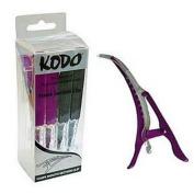 Hairdressing Sectioning Clips, Salon Professional Non-Slip Kodo Kroc Clips x4 Purple & Black