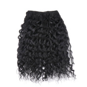 Synthetic Human Hair Extensions Kinky Curly Wave Hair Weave Natural Colour by JZEE Beauty