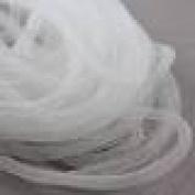 Beads4Crafts White Crinoline Tube 8mm (1 Metre) CC713