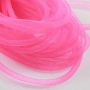 Beads4Crafts Pink Crinoline Tube 8mm (1 Metre) CC714