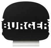 Securit Silhouette Burger Chalk Board, Melamine Resin, Black