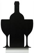 Securit Silhouette Wine Chalk Board, Melamine Resin, Black