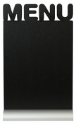 Securit Silhouette Menu Chalk Board, Melamine Resin, Black