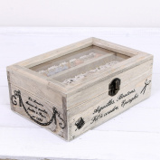 Vintage French Style Wooden Craft Box - H13 x L28 x W20 x D8cms Inside Tray