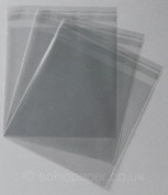 Cello Bags 159 x 155mm + 30mm Lip Self Seal packed in 100's