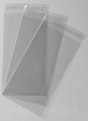 Cello Bags 125 x 230mm + 30mm Lip Self Seal packed in 100's