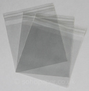 Cello Bags 110 x 105mm + 30mm Lip Self Seal packed in 100's