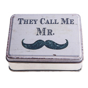 """Handy """"They call me Mr"""" Moustache Curious Design Metal Pock"""