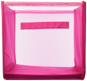 Innovative Home Creations 12 x 30cm x 30cm Yarn and Craft Storage Cube, Fuchsia