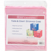 Innovative Home Creations 12 x 30cm x 30cm Yarn and Craft Storage Cube, Pink