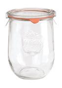 Glorex 6 8619 942 Tulip Trim Glass Jar with Glass Lid, Glass, Clear, 15 x 11 x 10 cm