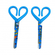2 X Safety Scissors For Kids Paper Crafts Designs Scissors - 15cm