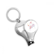 Carousel Windmill Lollipop Watercolour Painting Metal Key Chain Ring Multi-function Nail Clippers Bottle Opener Car Keychain Best Charm Gift
