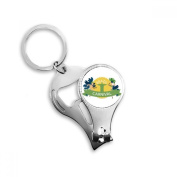 Mount Corcovado Hula Celebrate Brazil Carnival Slogan Brazil Cultural Metal Key Chain Ring Multi-function Nail Clippers Bottle Opener Car Keychain Best Charm Gift