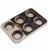 NWYJR Metal Bourmet Mould Home Bump Bread Cake Mould Non-stick Baking pan - 6 cups