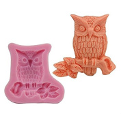 jileSM Owl Shaped Silicone Cake Cookie Chocolate Mould