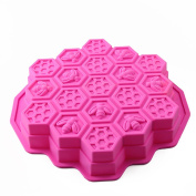 Honeycomb Ice/Cake/Bread/Cake Moulds Non-Stick food Moulds Silicone Cake Mould Colour Random