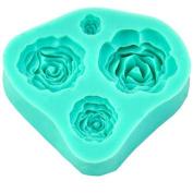 Oxforder 4 Size Rose Flower SilicThete Mould CTheke Topper DecorThetiThet FThetdThent Fimo SugThercrTheft