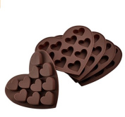 Kelaina 1Pc Ten Grids Sweet Heart Shaped Chocolate Candy Tea Cake Silicone Bakeware Mould Tray