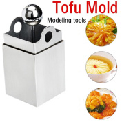 Prevently Brand New High Quality Creative Attractive Stainless Steel Tofu Maker Press Mould Kit Modelling Tools Pressing Mould Kitchen Tool Delicious Gift