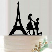 Omkuwl Wedding Cake Topper Proposed Cake Picks Stand Acrylic Eiffel Tower Wedding Party Cake Decor