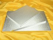 Dough Scraper 12718 Rectangle Cardboard Cake Stand 51 x 36 x 2 cm Silver