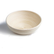 DaoRier Natural Ratan Banneton Bread Dough Proving Basket Traditional Round 20cm