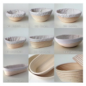 Round or Oval Bread Proofing Proving Baskets, Rattan Banneton Brotform, Sour Dough proofing, artisan bread. The baskets' coils and flour dusting provide a beautiful shape and decor for a traditional hearth loaf. Each basket is made by natural rattan an ..