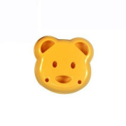jileSM 2Pcs Cute Bear Shaped Cookie Pastry Mould Baking Tool